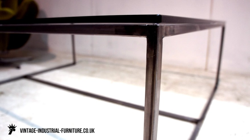 Glass coffee table - vintage detail