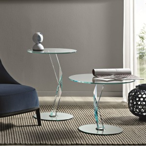 Bakkarat – Glass side Table by Tonelli